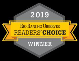 Rio Rancho Observer Reader's Choice Award Winner 2019
